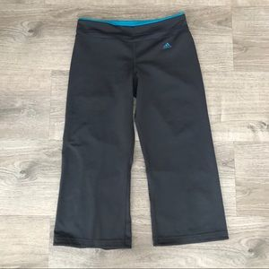 Adidas cropped workout pants.